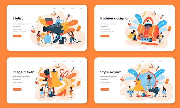 Веб-баннер или целевая страница модного стилиста