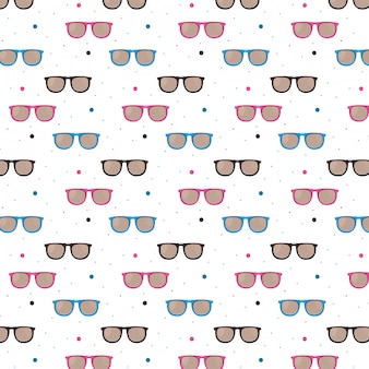 Fashion sunglasses pattern background