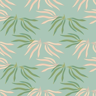 패션 열대 잎 semless 패턴입니다. 파란색 배경에 트로픽 리프입니다.