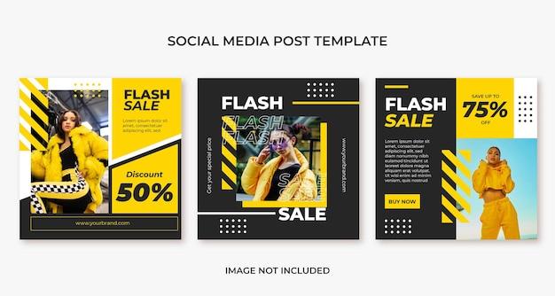Fashion urban streetwear social media post template