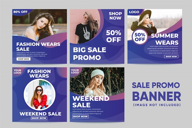 Fashion wears banner social media post template