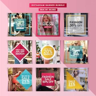 Fashion web banner for social media