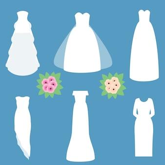 Fashion wedding dresses models.