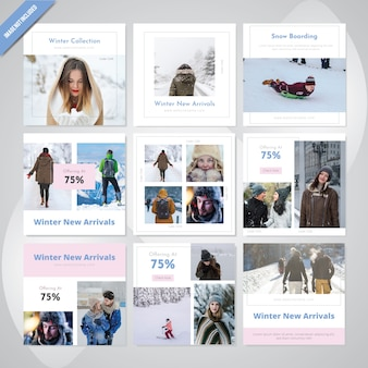 Fashion Winter Social Media Post Template