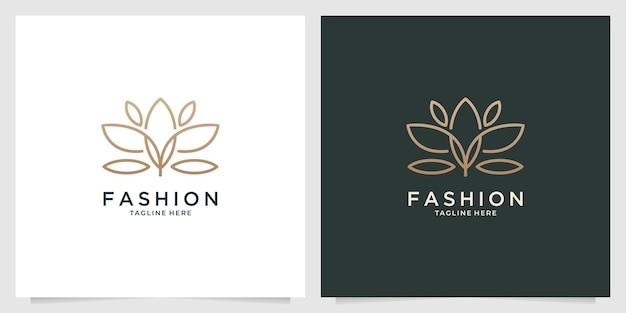 아름다움 자연 로고 디자인 패션