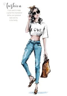 Женщина моды в заставке.