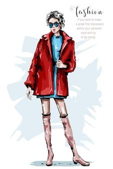 ファッションの女性の外観