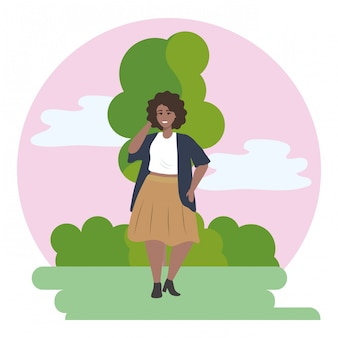 Fashion woman and tree design
