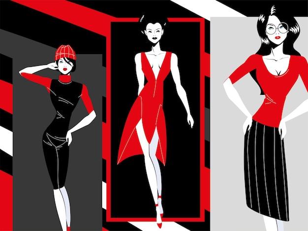 패션 여성 초상화