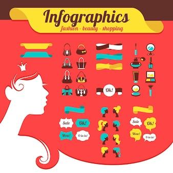 ファッションの女性のインフォグラフィック