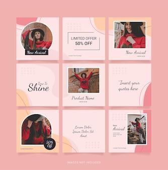 ファッション女性テンプレートパズルinstagramの投稿