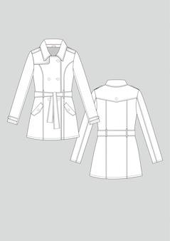 패션 여자 트렌치 코트 기술