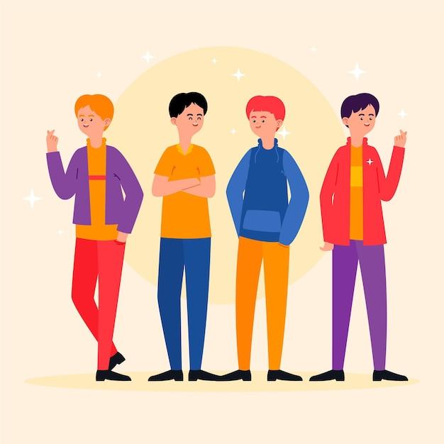 Fashion young k-pop boy group