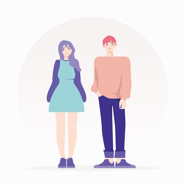 Fashion young koreans illustration