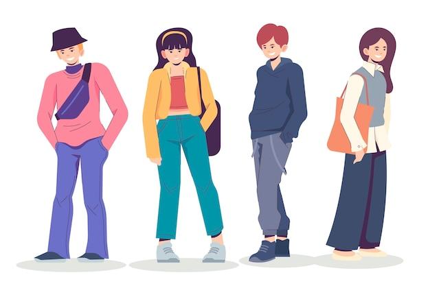 Fashion young koreans