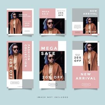Fashion социальные медиа баннер