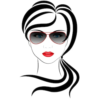 Fashionable girl,  vector illustrations on a white background
