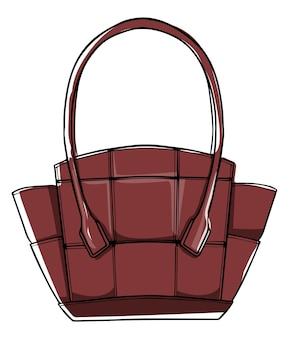 丸みを帯びたハンドルが付いたファッショナブルなレザーハンドバッグ