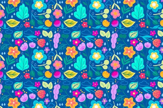 頭が変な小さな花のファッショナブルなパターン
