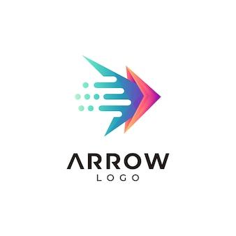速い矢印のロゴのテンプレート