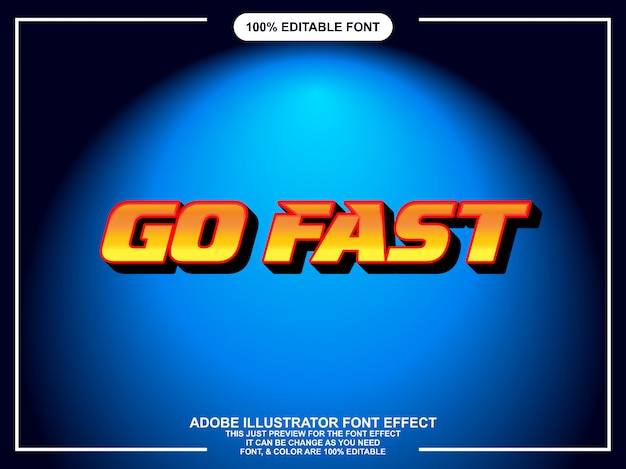 Fast and bold graphic style easy editable font