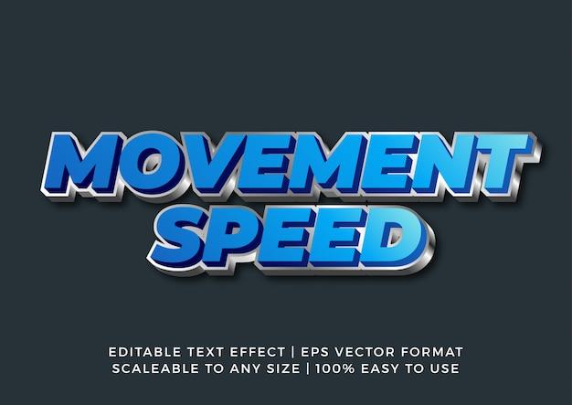 Fast bold современный редактируемый текстовый эффект