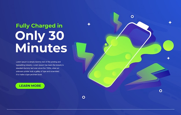 Fast charging system web template