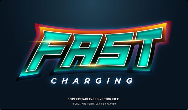 Fast charging text effect and editable font with fire effect
