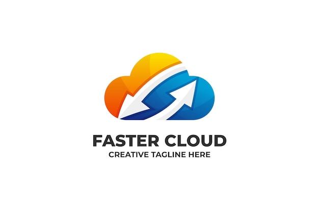 Fast cloud saving sharing file logo