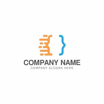 Fast code logo design template