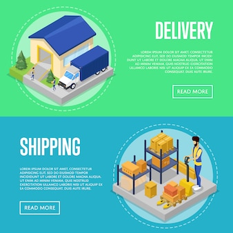 Fast delivery and freight shipping set
