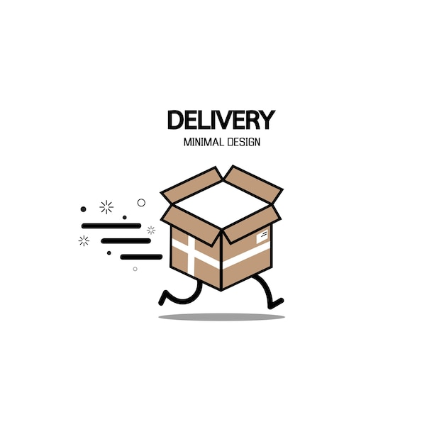 Fast delivery logo.