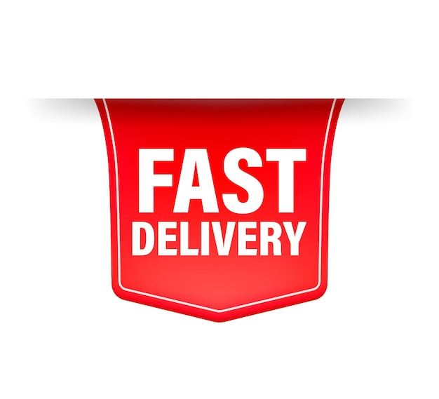 Fast delivery red ribbon