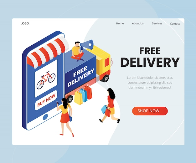 Fast delivery service concept  isometric vector illustration