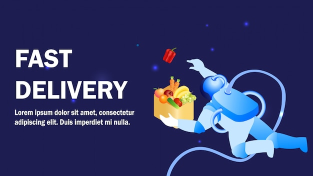 Fast delivery service promotion banner template