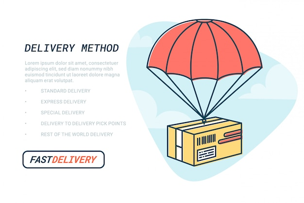 Fast delivery service web banner template.