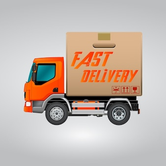 Fast delivery truc