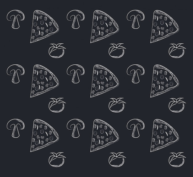 Fast food background icons