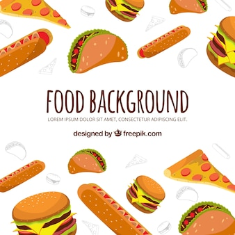 Fast food background