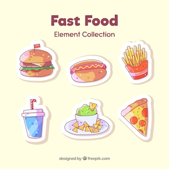 Fast food badge collection