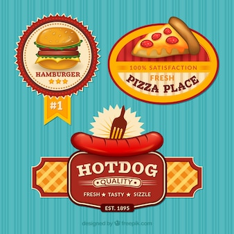 Fast food badges