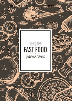 Fast food cafe menu cover