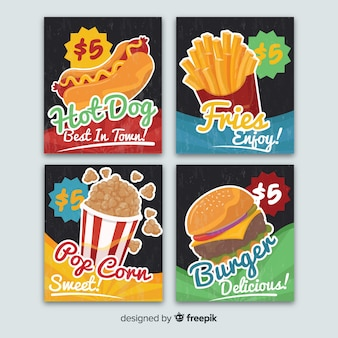 Fast food card collection