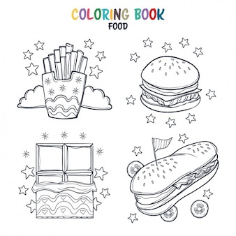 Fast food coloring design