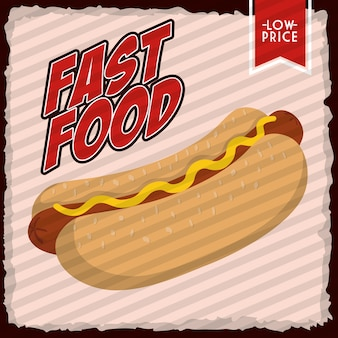 Fast food concept represented by hot dog icon