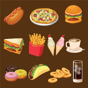Fast food designs collection