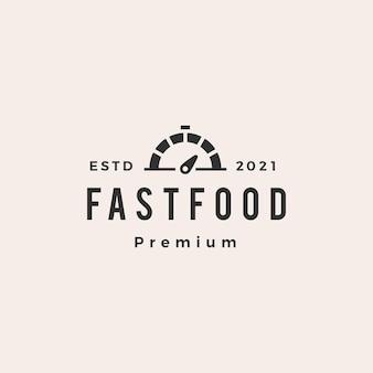 Хипстерский винтажный логотип быстрого питания