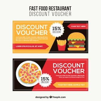 Fast food discount voucher