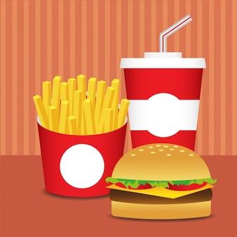 Design piatto fast food