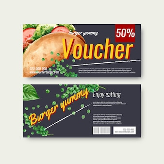 Fast food gif voucher discount order menu appetizer food